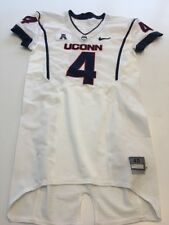 Game Worn Used Uconn Huskies Connecticut Football Jersey #4 Size 40