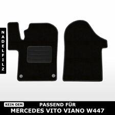 Fußmatten Passend für Mercedes Vito Viano W447 (ab 2014) - Schwarz Nadelfilz