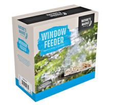 WINDOW BIRD FEEDER - Clear Plastic Tray Feeder Table Wild Garden Feed kf PawMits