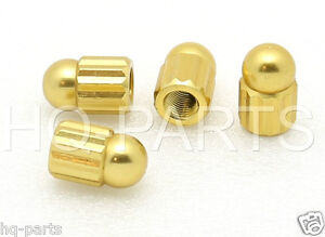 4 Bike Bicycle Kids Bike Alloy Short Axle Foot Peg Gold Safety Nut