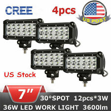 4X 7INCH 36W CREE LED WORK LIGHT BAR SPOT BEAM OFFROAD FLOOD LAMP TRUCK 4WD SA