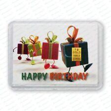 1g 1 g 1 Gramm Goldbarren in Motivbox - Geschenke - mit Zertifikat