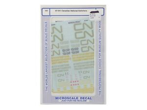 HO Canadian National / CN Swicthers Decal Set - Microscale #87-641 r  vmf121