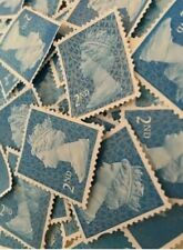100 x 2nd Class Unfranked Stamps Second EXCELLENT QUALITY no gum
