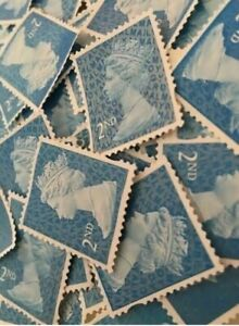 100 2nd Class Unfranked Stamps Second EXCELLENT QUALITY no gum