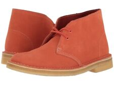 WOMEN'S CLARKS ORIGINALS DESERT BOOTS CORAL COLOURED - SIZE 5 UK
