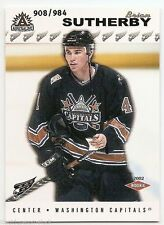 01/02 PACIFIC ADRENALINE HOBBY ROOKIES RC #225 Brian Sutherby #908/984