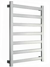 Bathroom REVO SQUARE SLIM FLAT Heated Towel Rail Ladder Rack 750mmX1000mm,7 BARS
