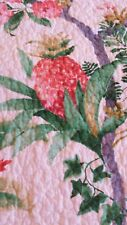 Cynthia Rowley TROPICAL PINEAPPLE FLORAL FULL/QUEEN QUILT (ONLY) Jute Trim NEW