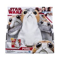 NEW BOXED OFFICIAL STAR WARS E8 PORG MUSICAL DANCING PLUSH SOFT TOY
