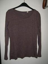 @@@ Esprit Longshirt Langarmshirt T-Shirt ~ Gr. 36 bzw. S ~ beere meliert