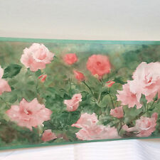 One Roll - Seabrook Designs *PINK ROSES* Wall Paper Border #JB920B - NEW