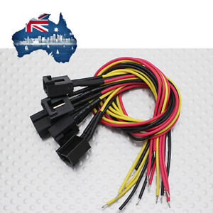 Molex 3 Pin Cable Male Connector with 220mm x 26AWG Wire (5pcs)