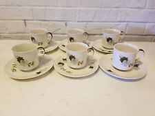 Royal Doulton Westwood 6 Cup & Saucer Set with Floral Decorations