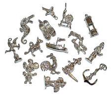 39.7g plata esterlina Lote Mixto tradicional encantos trabajo