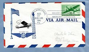 1941 Sc #C29 20¢ Airmail Transport Plane Stamp American conv. Cachet Craft Cover