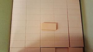 Slim  Nail BUFFERS Orange White 2-Way Buffing Blocks 80/100 Grit 500/ Case