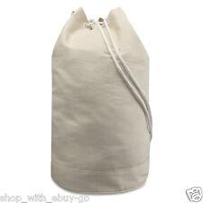 Ebuygb Unisex 1221904 Drawstring Sailor Bag-cotton Canvas Duffel Blue One Size