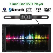 "HD Camera 7"" 2 Din In Dash Car DVD/USB/SD Player FM Radio Bluetooth MP5 MP3 Aux"