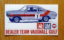 Dealer TEAM Vauxhall Golfo MAGNUM Firenza Motorsport Race Rally Adesivo / Decalcomania