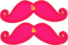 SHWINGS Pink Neon Mustache clip on Wings for shoes designer Shwings NEW 70101