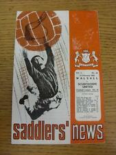 24/02/1968 Walsall v Scunthorpe United  (Worn On Cover). This item is in very go