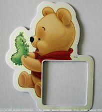 Light Switch Wall Sticker Winnie The Pooh Glow In Dark