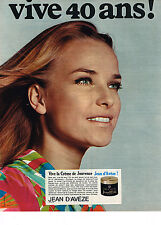 """PUBLICITE  1968   JEAN D'AVEZE   cosmétiques  """" VIVE  40 ans! """""""