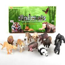 1Pc Realistic Zoo Animal Figure Model Tiger Leopard Hippo Giraffe Kids Toy ofus