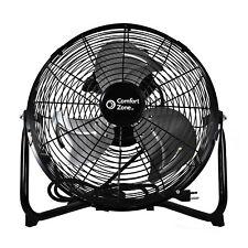 "Comfort Zone 12"" High-Velocity 3 Speed 180-Degree Cradle Fan, Black (Used)"