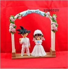 2Pcs Anime Dragon Ball Z Romantic Goku ChiChi Marry Wedding Figure Model Doll