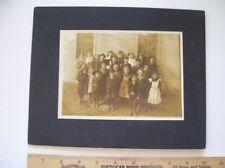 Vintage1880's Silver Gelatin Photograph mounted * Prairie Schoolhouse Children*