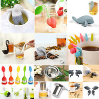Tea Leaf Strainer Herb Infuser Stainless Steel Silicone Reusable Filter Diffuser