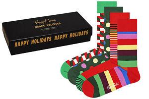 Happy Socks - Classic Holiday Socks Gift Box - 4er Pack