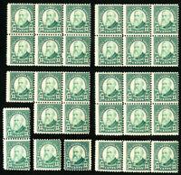 US Stamps # 622 AV/F OG NH Lot of 30 w/ Multiples Catalog Value $570.00