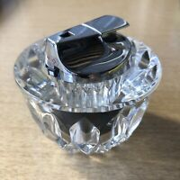 "Gorgeous Mid Century Crystal Ronson Cigarette Table Paper Weight Lighter 3"" Tall"