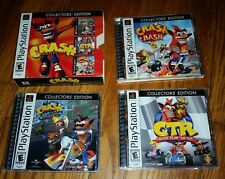 Crash Bandicoot Collector's Edition Complete 3 Games Playstation 1 PS1 Tested