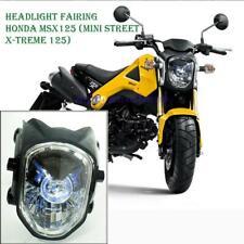 12 13-15 Honda Grom 125 Msx125 Bike Tdm Projector Headlight Blue Ring Performanc