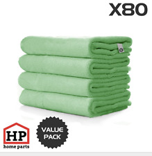 80 X Professional Washable Microfibre Cloths Extra-Large Super Thickness Green