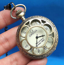 China Tibet collection of bronze sculpture machinery old pocket watch free deliv