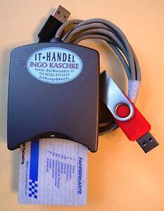 digit. LKW-Fahrerkarte auslesen, Lesegerät + 2-GB-USB-Stick + Software etc.