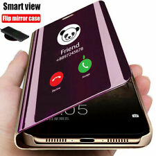 Mirror Flip Case for Samsung Galaxy A21s A41 A51 Slim Leather Stand Phone Cover