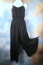 NEW BAR III sexy black spaghetti strapwide leg jumpsuit catsuit SZ: XS