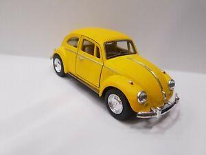 1967 Vw volkswagen Classical Beetle matte yellow kinsmart model car 1/32 scale