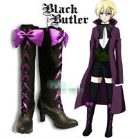 Black Butler II 2 Alois Trancy Anime Cosplay Costume Shoes Boots free shipping