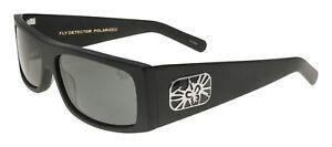 NEW BLACK Flys Sunglasses FLY DETECTOR MATTE BLACK POLARIZED Smoke LENS LIMITED