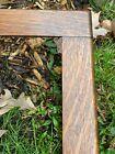 """Quarter Sawn Tiger Oak Mission Arts Crafts Antique Frame 21 3/4 x 19"""" Butt joint"""