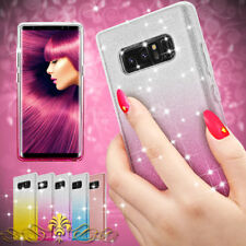 Bling Glitter Silicone TPU Rugged Case Cover for Samsung Galaxy Note 8 S8 Plus