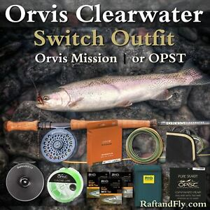 Orvis Clearwater 7wt Switch Outfit -Battenkill | Mission or OPST Head, 3 Tip Kit