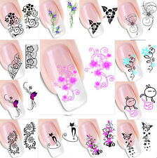 DIY Flower Design Nail Art 3D 50pcs Manicure Tips Stickers DecalsDecoration